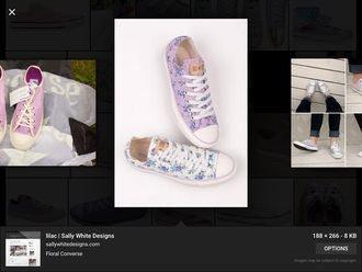 shoes lilac purple floral converse low top converse all star converse converse shoes