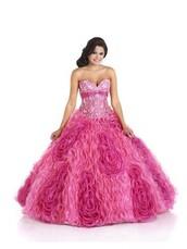 dress,bonny rebecca,gown,puffy dress,pink
