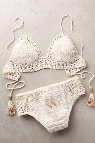 swimwear bikini white white bikini