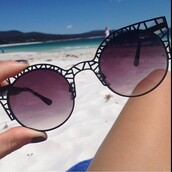 sunglasses,black,beach,round sunglasses,cool,girly,white dress,summer dress,black dress,black sunglasses