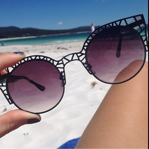 sunglasses black beach round sunglasses cool girly white dress summer dress black dress black sunglasses