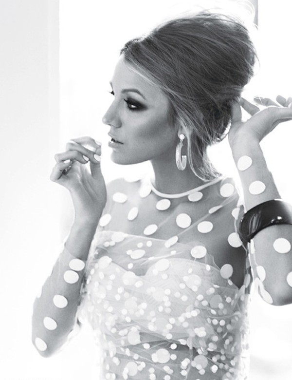 blouse modern white polka dots blake lively top glamour mesh top sexy