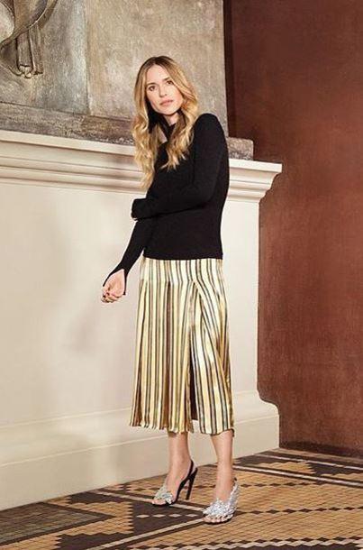 dress stripes midi dress blogger instagram pernille teisbaek satin dress