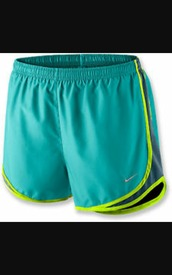 shorts,nike blue/green running shorts