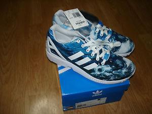 097962d42dd14 DS 2014 Adidas ZX Flux Ocean Waves Blue White 9 5 Torsion ...