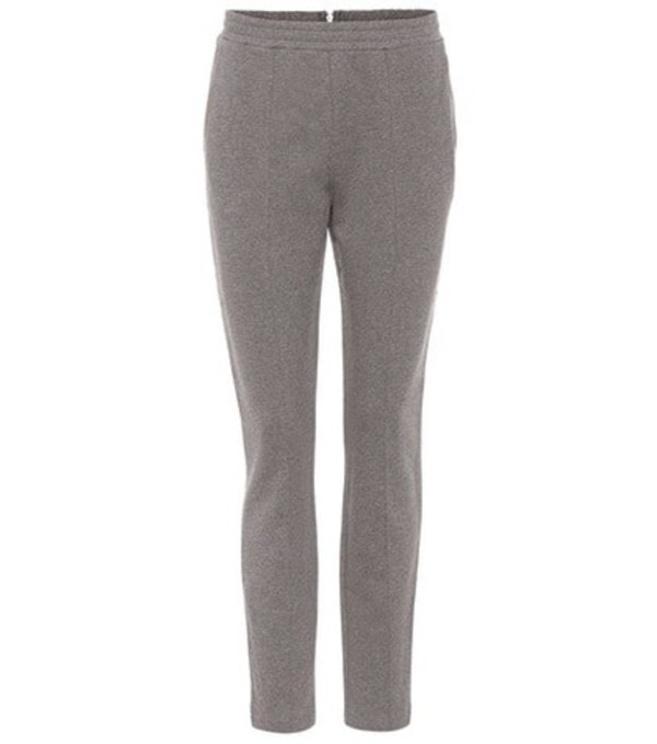 T by Alexander Wang Cotton track pants in grey