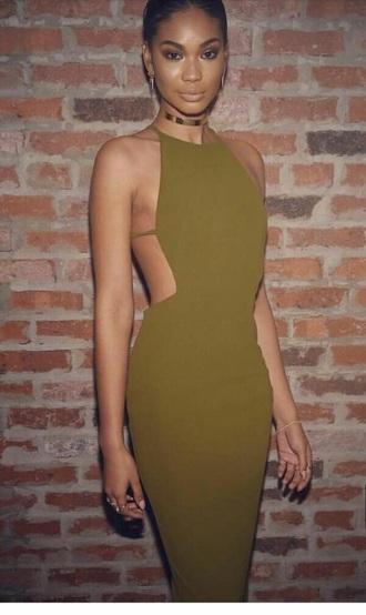 dress olive green olivedress halter dress