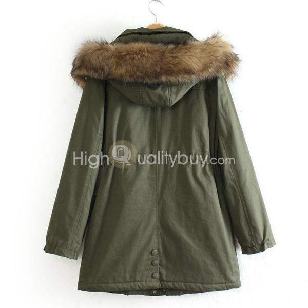 Girls women's autumn winter clothes long sleeve coat outwear removable hood xl_56.05