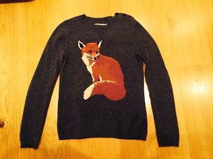 Aubin and wills merino wool fox jumper size small