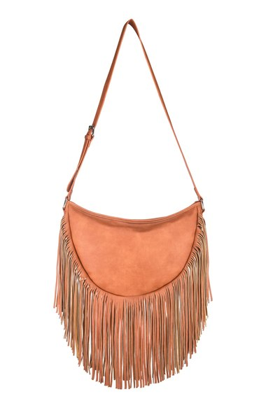 Urban Originals Fringe Faux Leather Shoulder Bag | Nordstrom