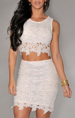 2 pieces Tight Lace Dress