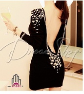 dress,black,pearl,vestito,capodanno,nero,perle