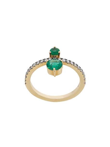 Jemma Wynne women ring gold green yellow jewels