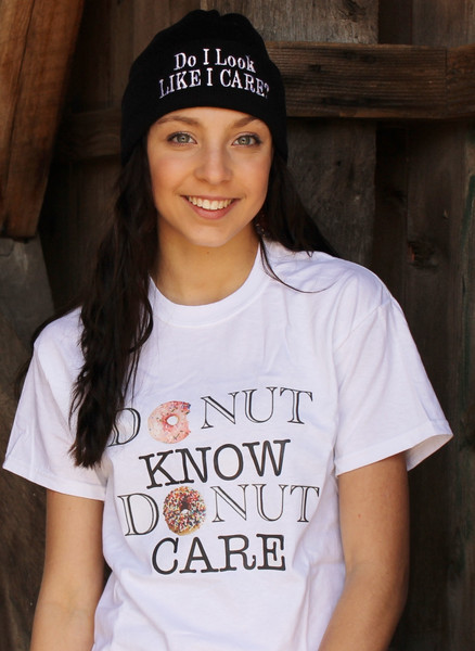 Donut Know Donut care tee – LUCKY FOX APPAREL