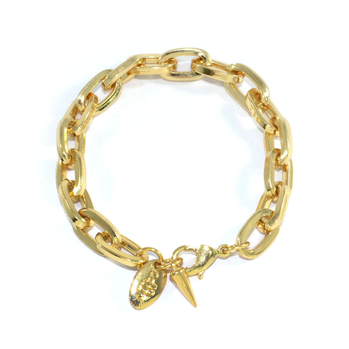 CHUNKY CHAIN WITH SPIKE BRACELET - Rings & Tings | Online fashion store | Shop the latest trends