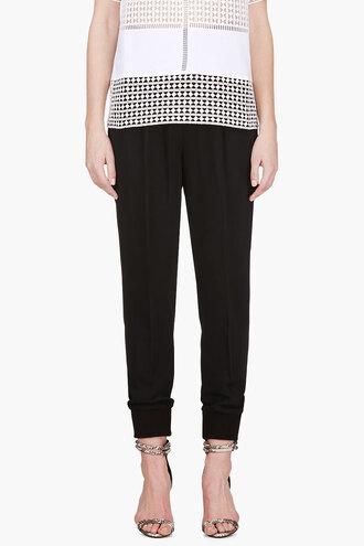 pants black harem clothes pleated women
