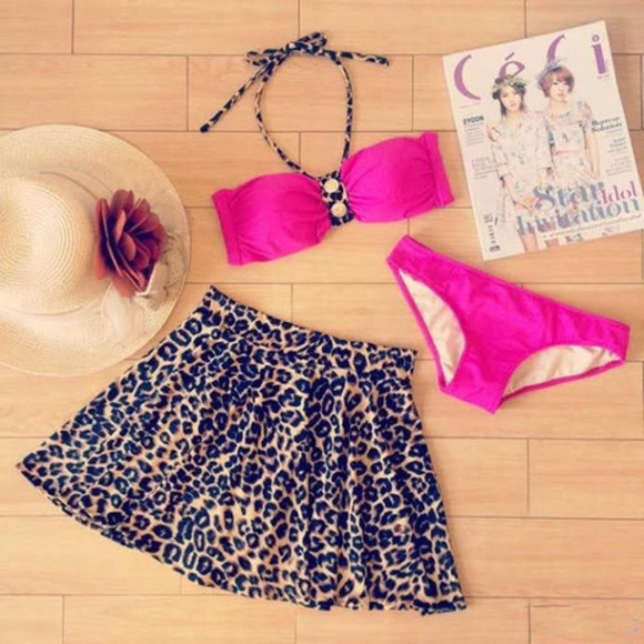 animal print swimwear clothes swimdress