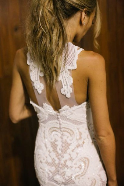 dress lace white dress
