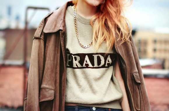 clothes prada sweater le happy vintage luxury jacket