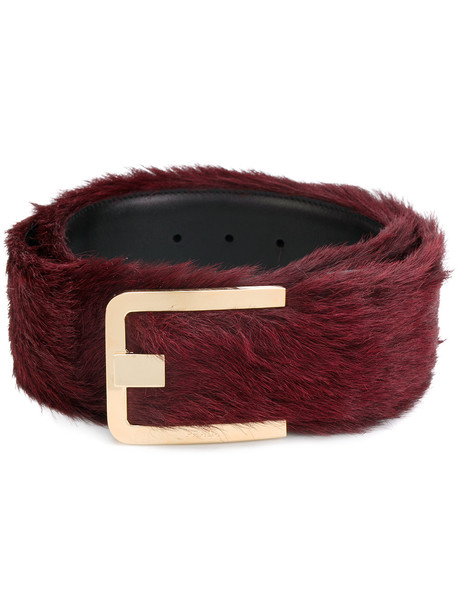 fur fox belt red