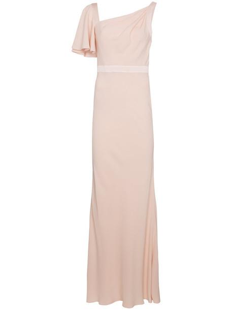 Alexander Mcqueen gown women nude silk satin dress