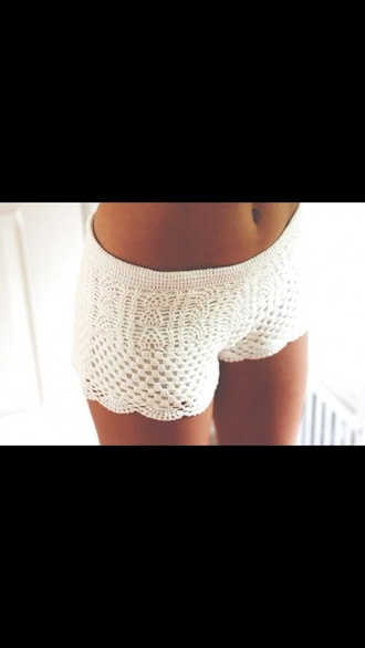 shorts cute shorts crochet crochet shorts white summer summer shorts lace white lace shorts cream white crochet shorts handmade handmade crochet shorts crochet shorts white handmade crochet knitwear