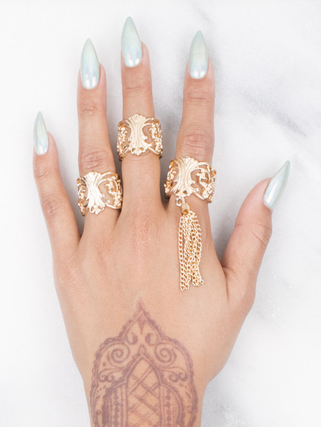 Jewels gold soul ring hippie tumblr gold ring gold ring set