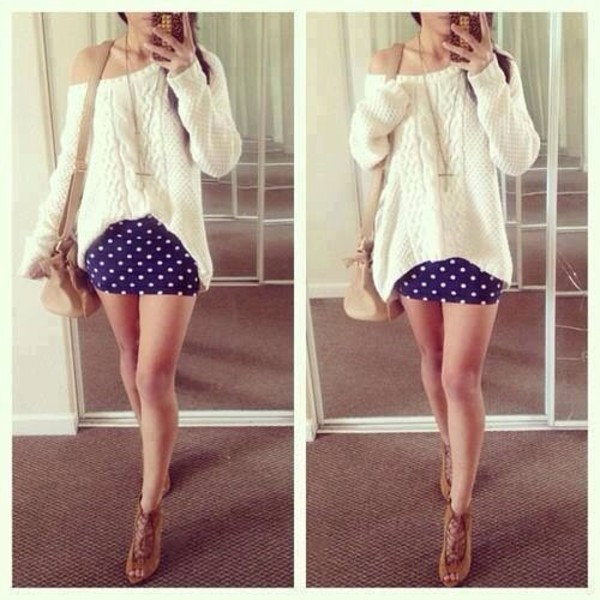skirt sweater shoes
