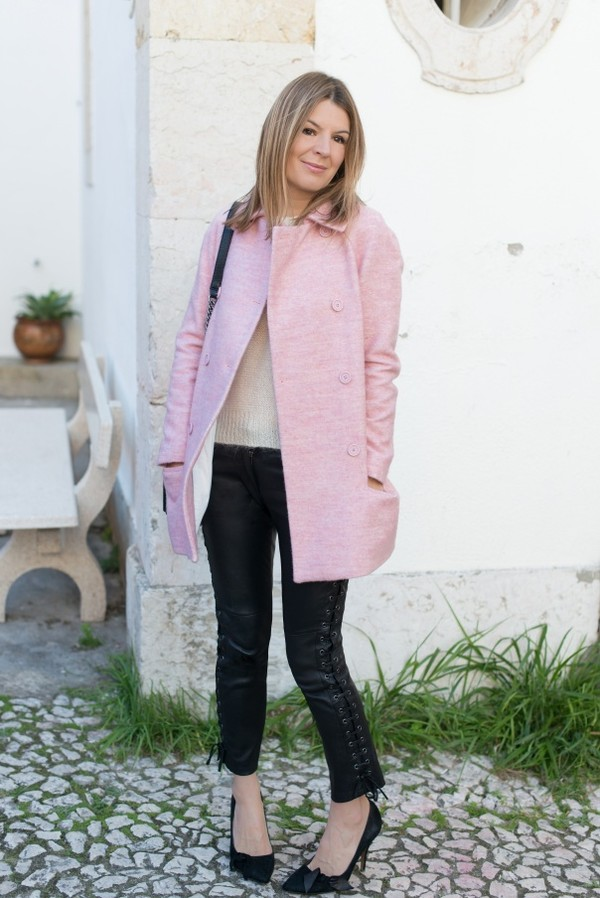 Vanessa Tailored Coat In Dusky Pink - Coats & Jackets - Coats ...