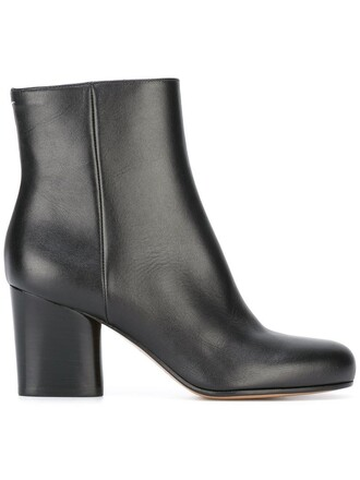 women classic boots ankle boots leather black shoes