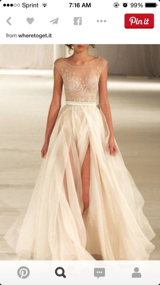 dress puffy dress white dress lace dress mesh dress