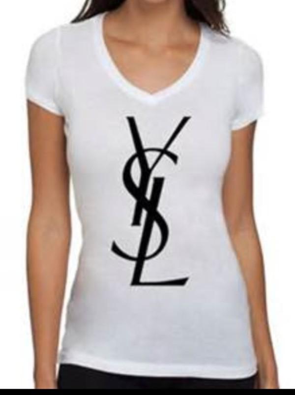 t-shirt t-shirt yves saint laurent