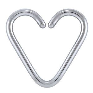 Heart daith cartilage earring