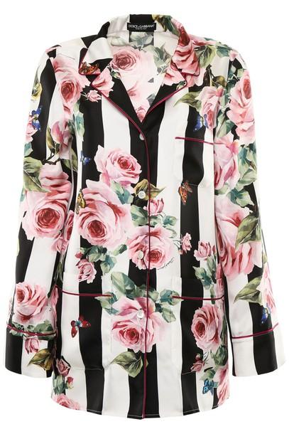 shirt silk rose top