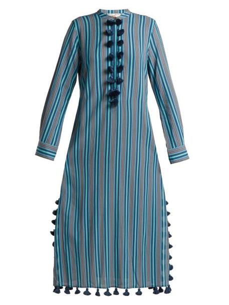 Figue - Paolina Striped Tassel Trimmed Dress - Womens - Blue Stripe
