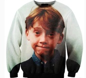 sweater,celebrity,ron weasley,harry potter,crewneck sweater,sweatshirt