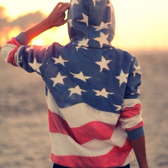 jacket hoodie american. flag pretty clothes clothing couple beak sun red white blue boy mens sweater 4th july