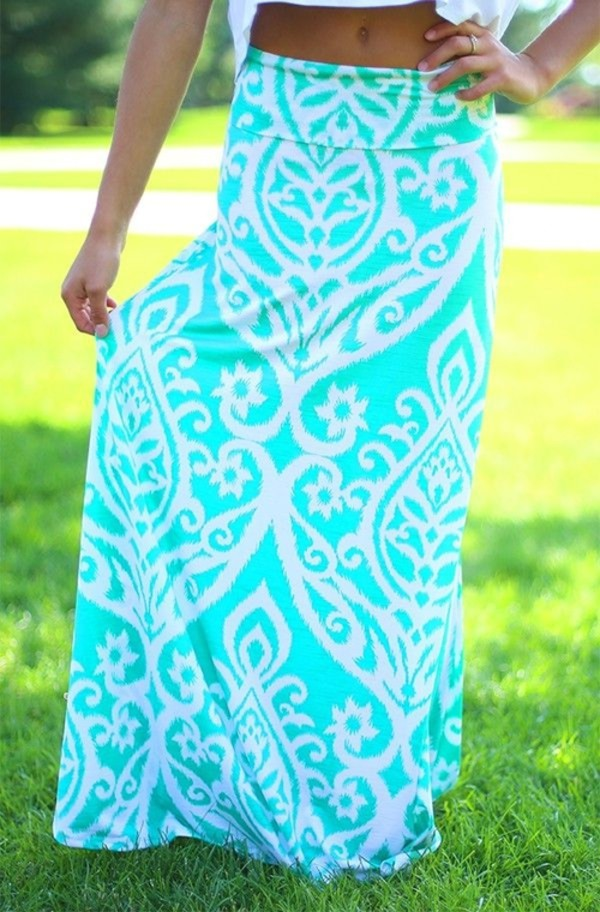 skirt maxi skirt aqua white summer outfits beautiful baby blue summer
