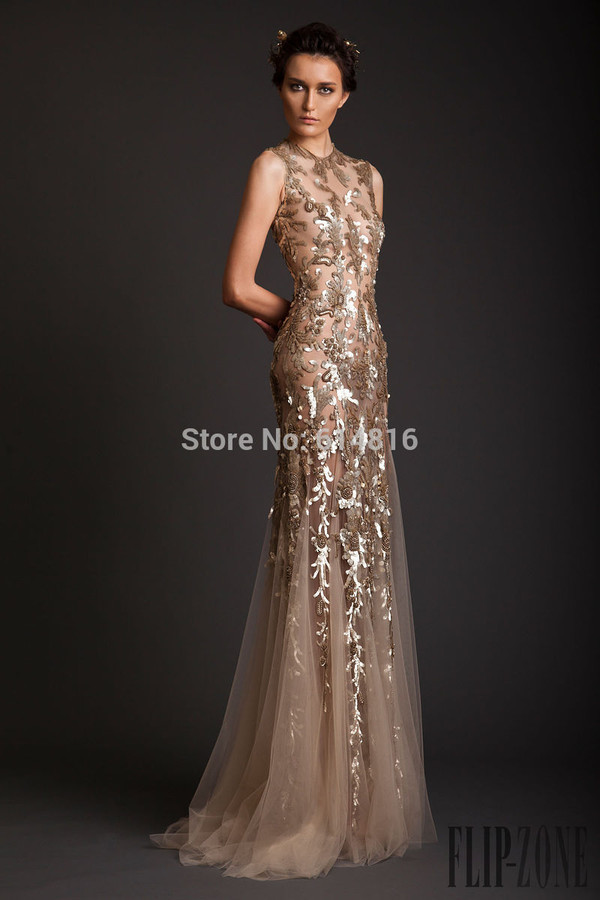 pageant prom dress sequined prom dress