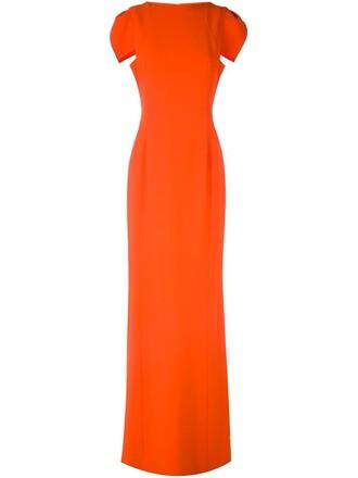 gown yellow orange dress