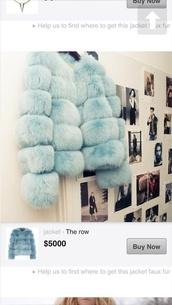 coat,jacket coat winter cold blue fur