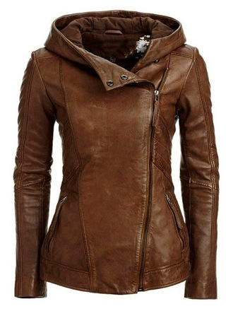 jacket biker hood