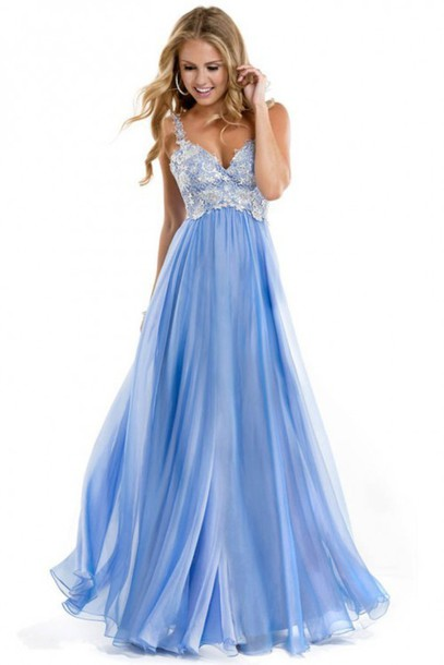 wedding dress, best selling dress, blue dress, chiffon dress party ...