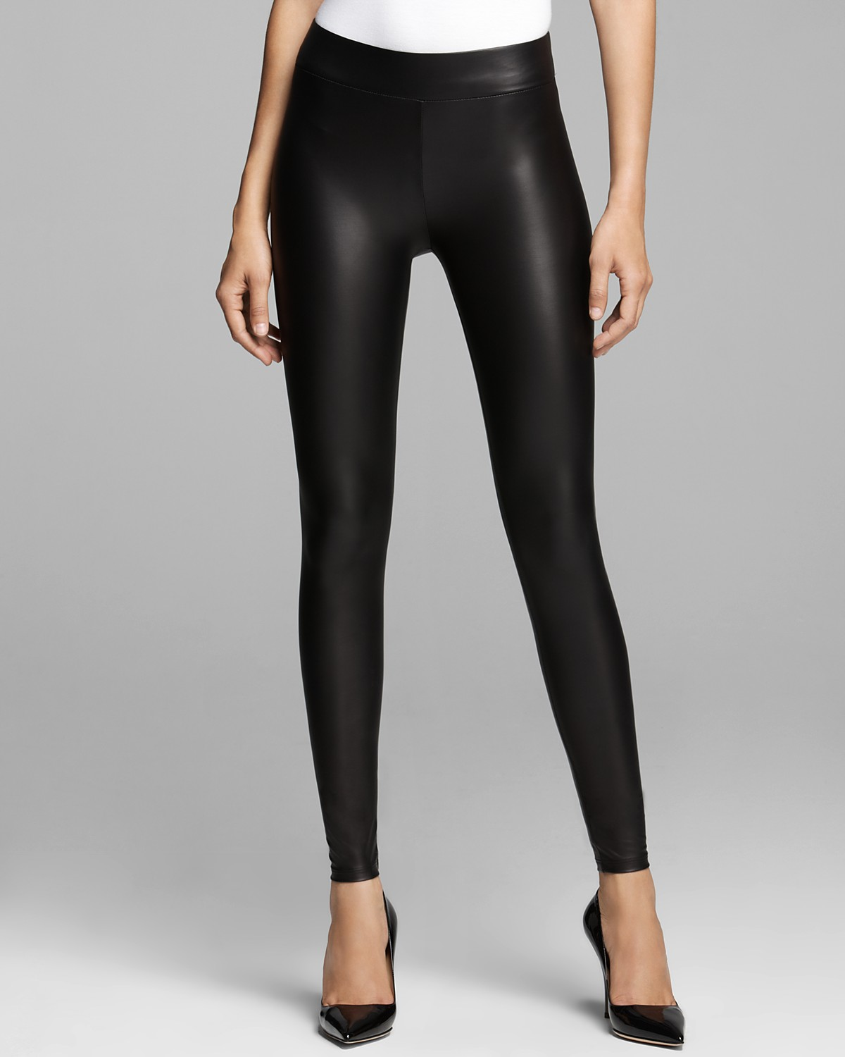 GUESS Leggings - Matte Faux Leather | Bloomingdale's