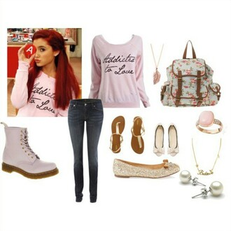 sweater ariana grande cute tumblr pink sweet love pretty tumblr outfit phone cover