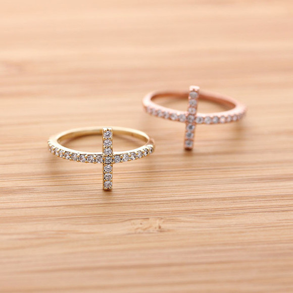 gift jewels ring sideways cross sideways cross rings