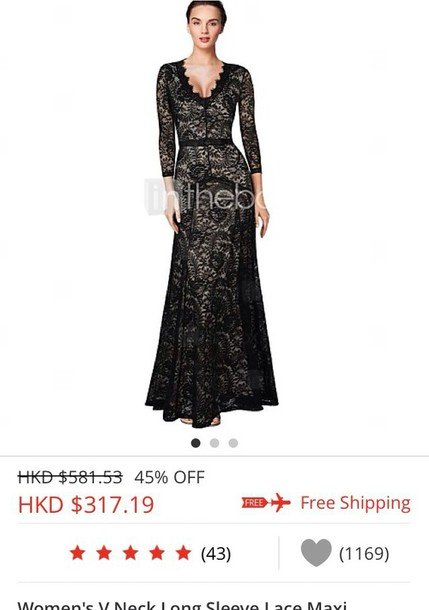 dress black dress dress lace elegant dress