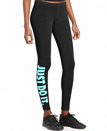 Nike Skinny Logo Active Leggings - Pants & Capris - Women - Macy's