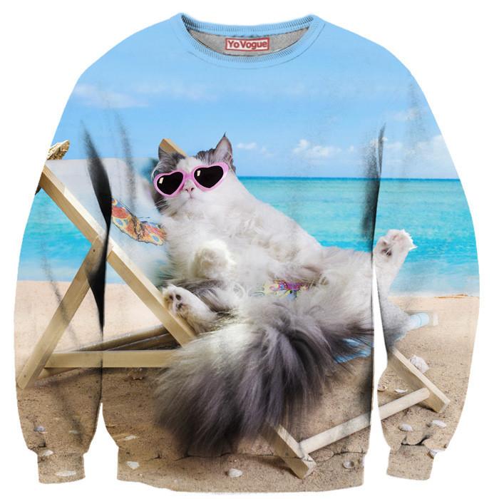 Lion face sweatshirt by yo vogue clothing