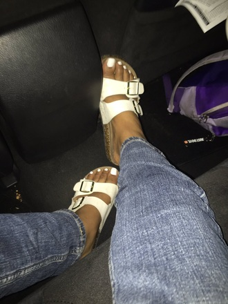 shoes sandals h&m buckles double buckled women girl teenagers girly pink white nice help finding these sandals?
